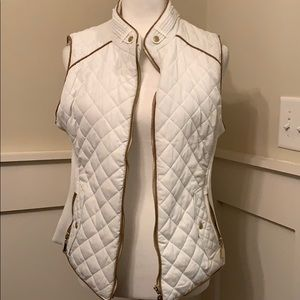 Gold and white vest